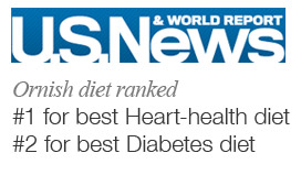 Ornish diet ranked #1 heart healthy diet and #2 diabetes diet by US News and World Report