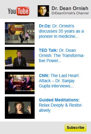 View YouTube videos on the Dr. Dean Ornish channel