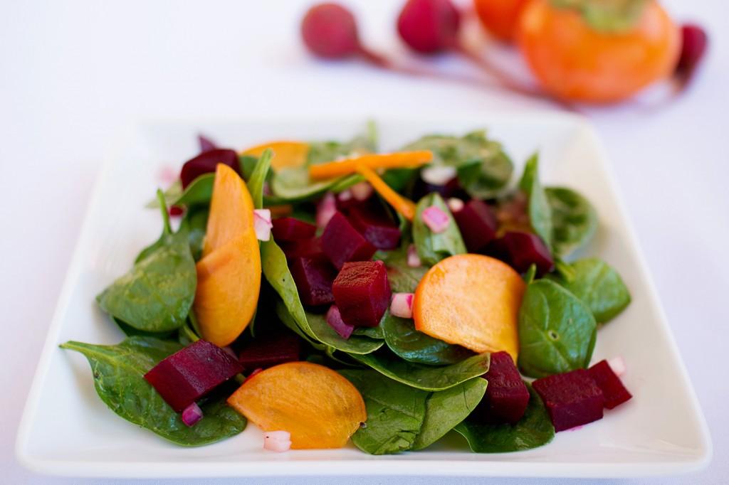 Persimmon Beet Salad