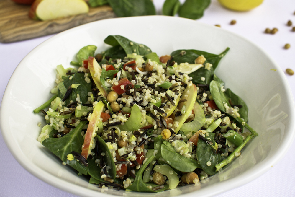 Wild Rice and Quinoa Waldorf Salad