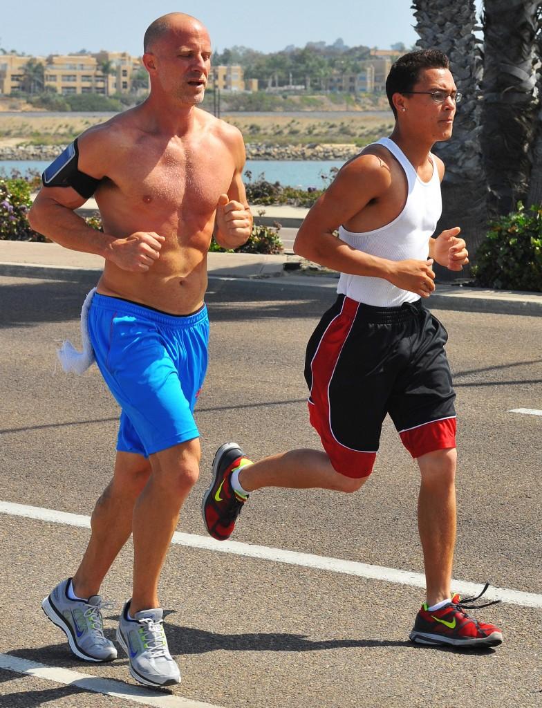 jogging partners -Chris Hunkeler